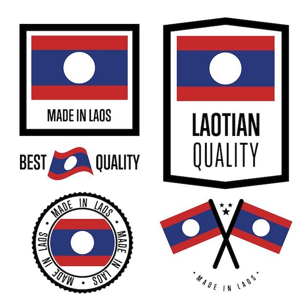 Laos gütesiegel festgelegt Premium Vektoren