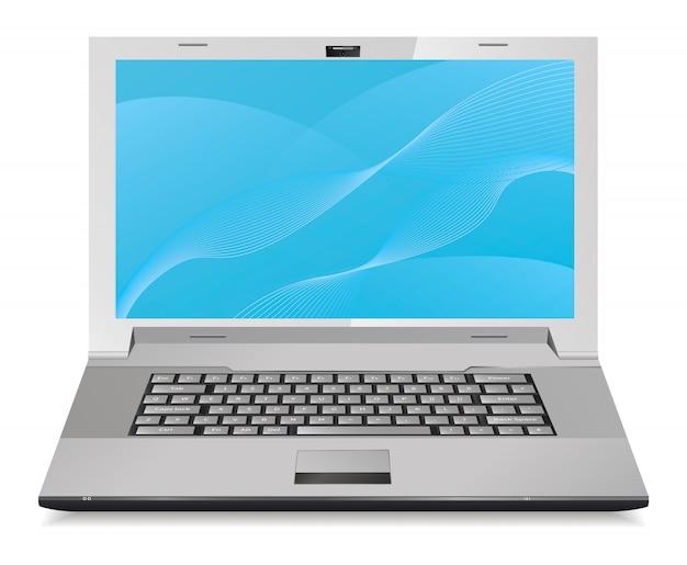 Laptop abbildung Premium Vektoren