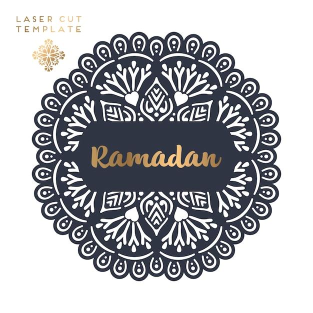 Laser geschnittenes islamisches muster Kostenlosen Vektoren