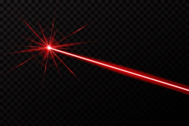 Lasersicherheitsstrahl glänzen lichtstrahl. Premium Vektoren
