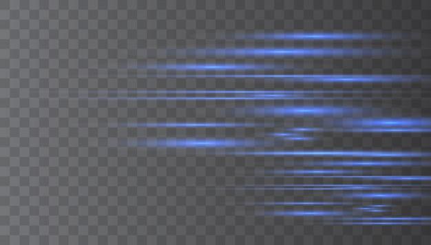 Laserstrahlen, horizontale lichtstrahlen. Premium Vektoren