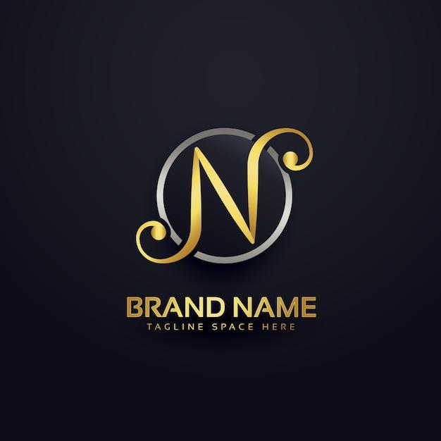 Lassen n-logo-design im kreativen stil Kostenlosen Vektoren