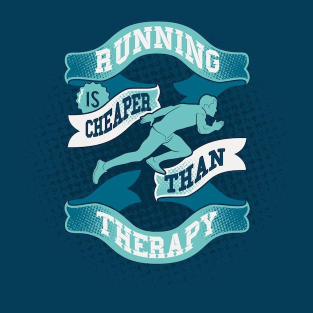 Laufen ist billiger als therapiezitate sagen Premium Vektoren