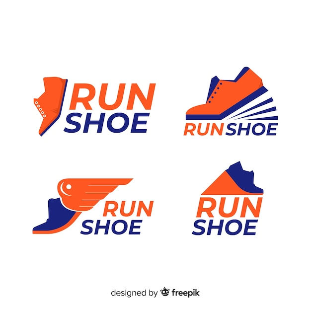 Laufschuh-logos Kostenlosen Vektoren