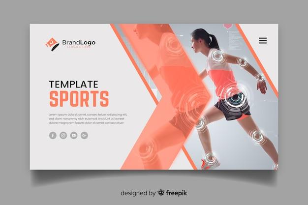 Laufsport-landingpage Kostenlosen Vektoren