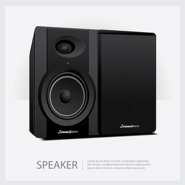 Laute lautsprecher isolierte illustration Kostenlosen Vektoren