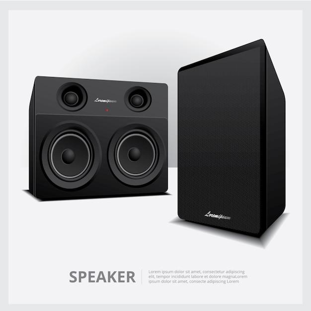 Laute lautsprecher isolierte vorlage Kostenlosen Vektoren