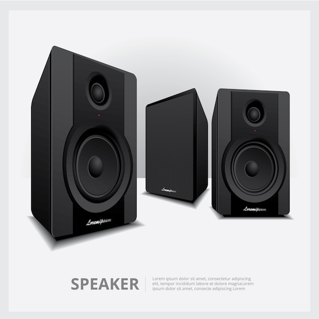 Lautsprecher isoliert Premium Vektoren