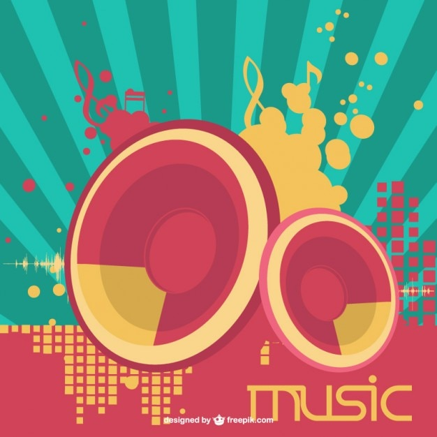 Lautsprecher musik vektor Kostenlosen Vektoren