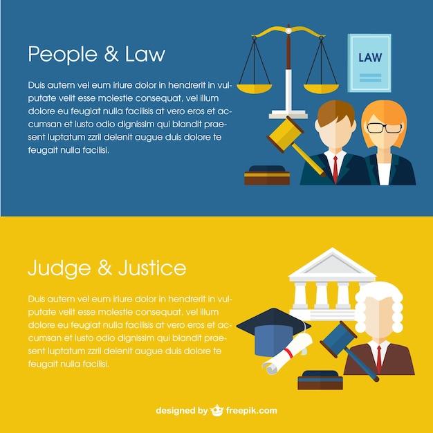 Law banner Kostenlosen Vektoren