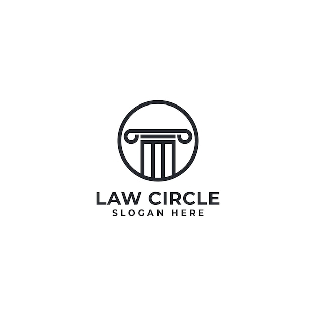 Law circle logo Premium Vektoren