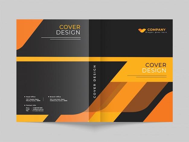 Layout der promotion-deckblattvorlage für den geschäfts- oder unternehmensbereich. Premium Vektoren