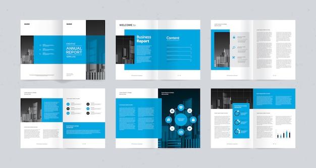 Layout-design-vorlage für firmenprofil Premium Vektoren