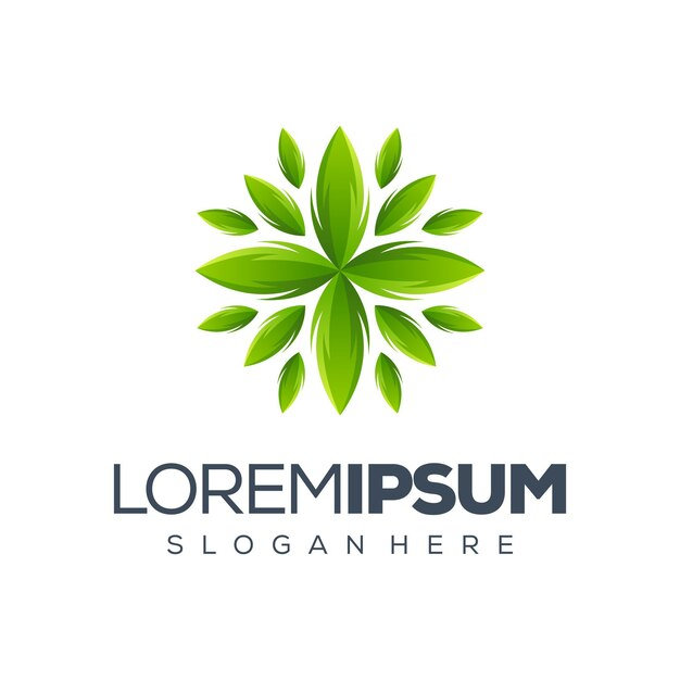 Leaf-logo-design Premium Vektoren