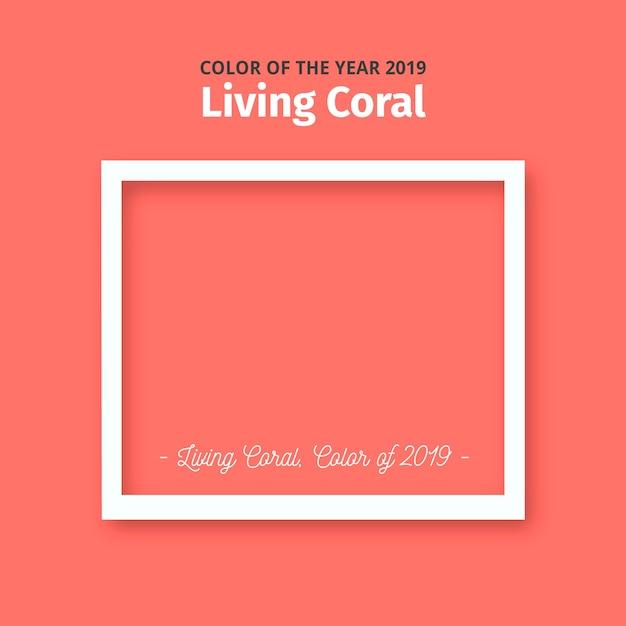 Lebender korallenroter hintergrund Kostenlosen Vektoren