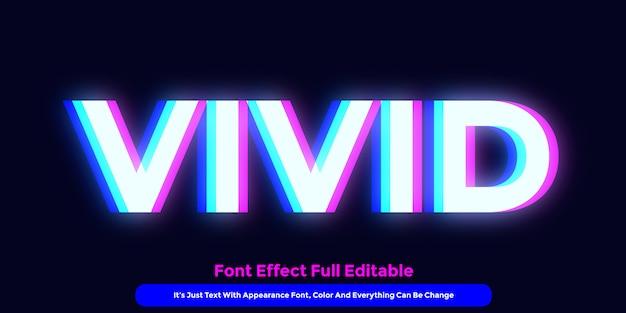 Lebendiger leuchtender text Premium Vektoren
