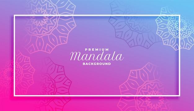 Lebendiges hintergrunddesign der lebendigen mandala-artdekoration Kostenlosen Vektoren