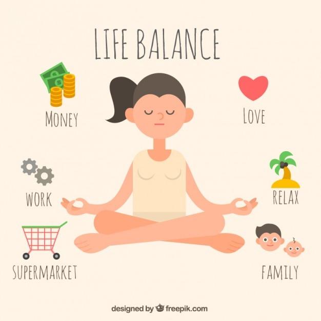 Lebensbalance Kostenlosen Vektoren