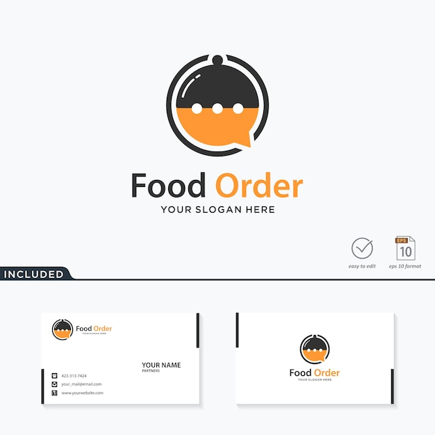 Lebensmittel bestellen logo-design Premium Vektoren