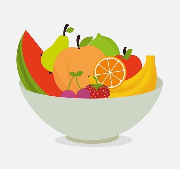 Lebensmittel-design. Premium Vektoren