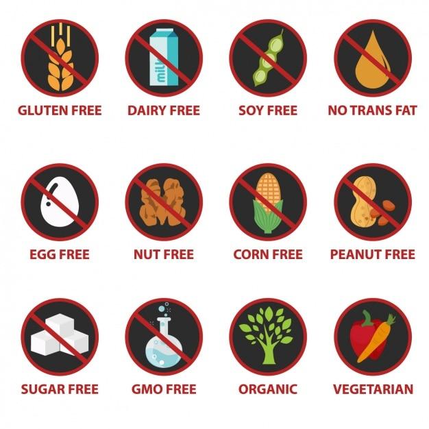 Lebensmittel-ikonen-sammlung Kostenlosen Vektoren
