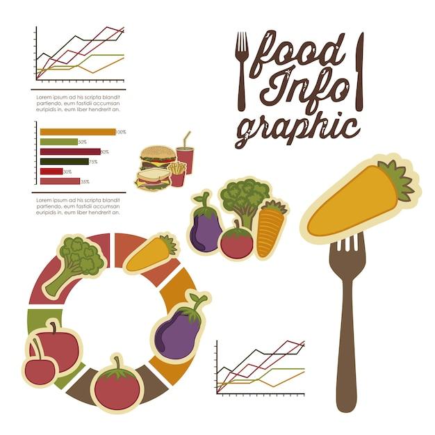 Lebensmittel infografiken Premium Vektoren