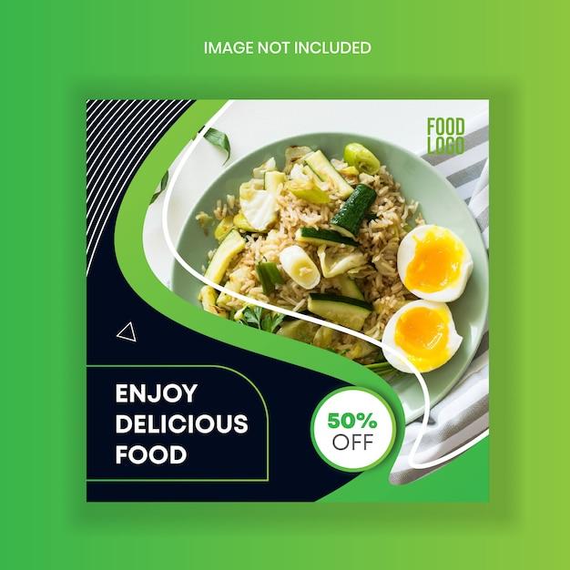 Lebensmittel instagram geschichten feed-post-vorlage Premium Vektoren