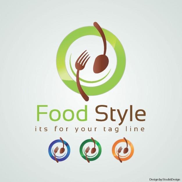 Lebensmittel logo Kostenlosen Vektoren