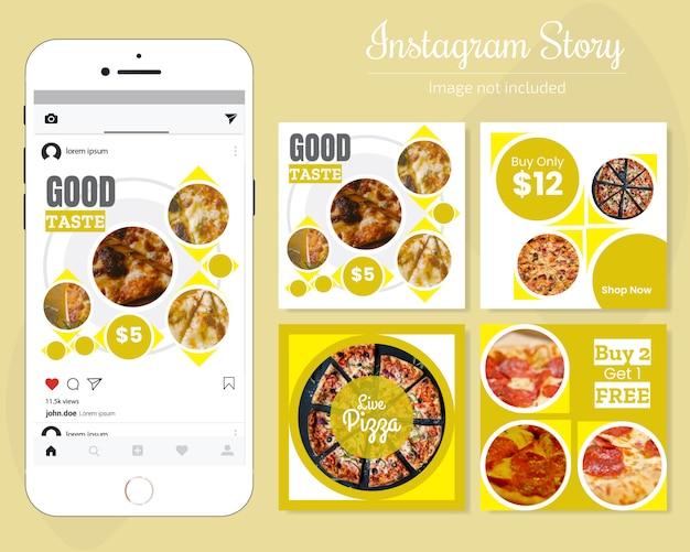 Lebensmittel-social media-banner für restaurant Premium Vektoren