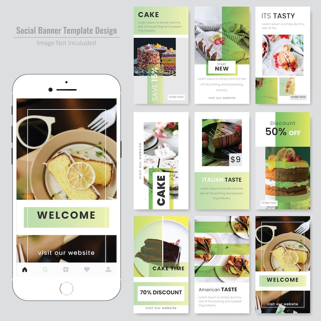Lebensmittel-Social Media Post-Vorlage für Restaurant   Download der ...