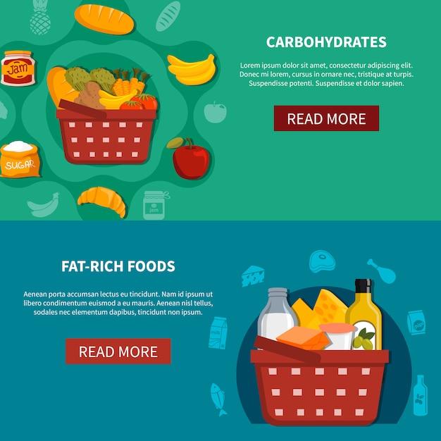 Lebensmittel supermarkt horizontale banner Kostenlosen Vektoren