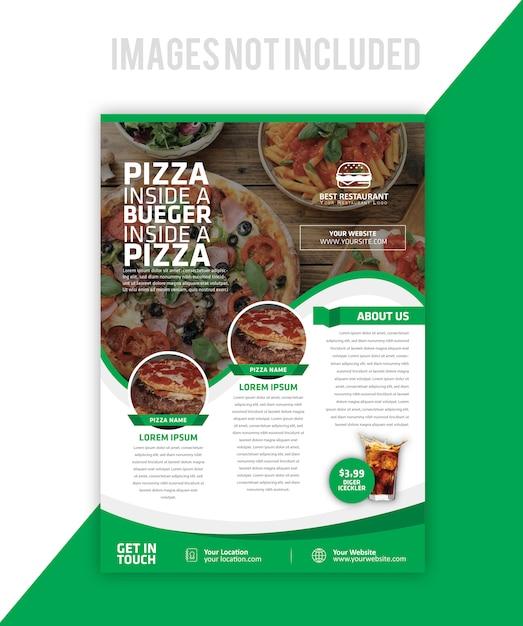 Lebensmittelbroschüre Premium Vektoren
