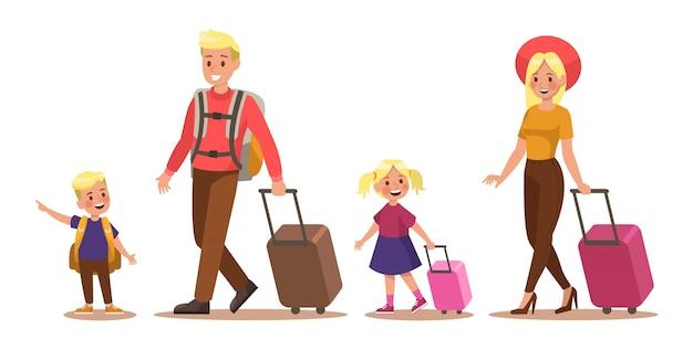 Lebensstil der familie Premium Vektoren
