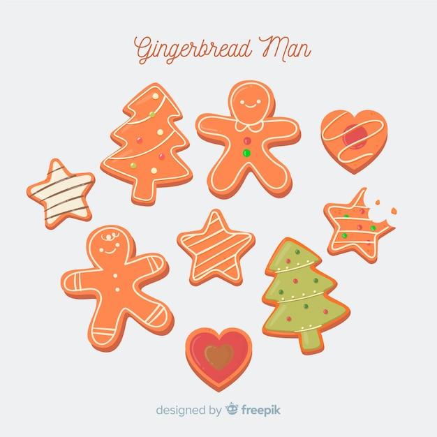 Lebkuchen süße kekse Kostenlosen Vektoren