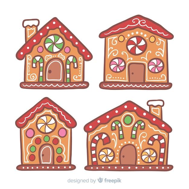 Lebkuchenhaussammlung Kostenlosen Vektoren