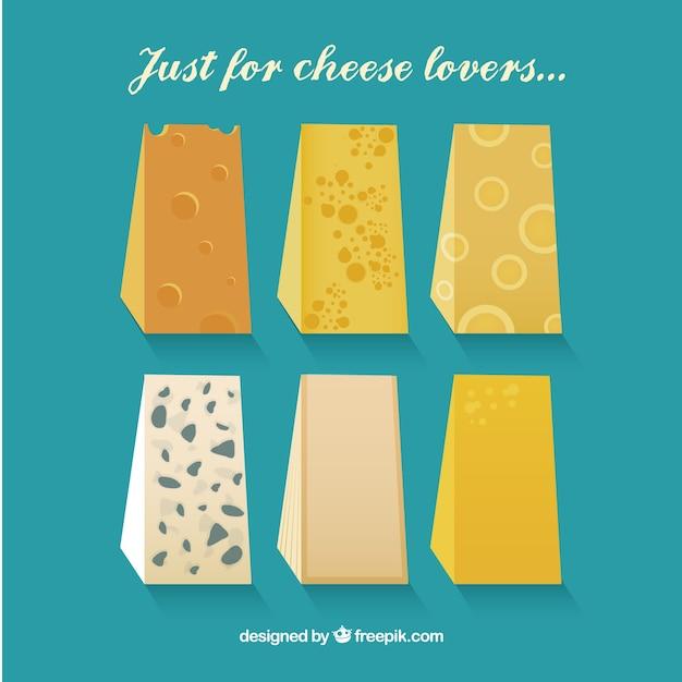 Leckere auswahl an gourmet-käse Kostenlosen Vektoren