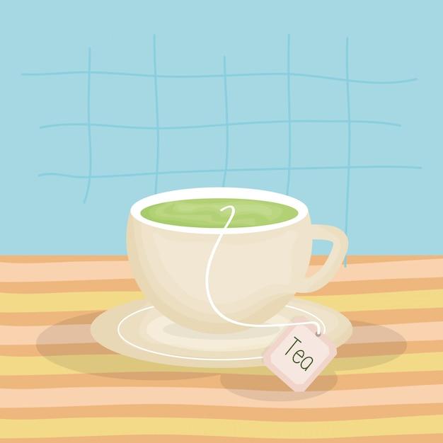Leckere teetasse trinken Premium Vektoren