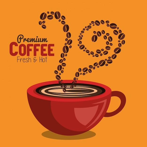 Leckerer kaffee Kostenlosen Vektoren