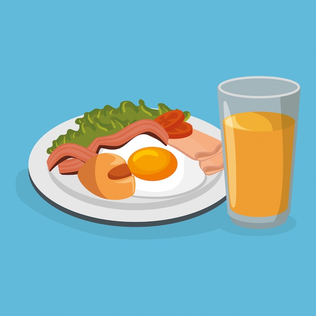 Leckeres essen frühstück Kostenlosen Vektoren
