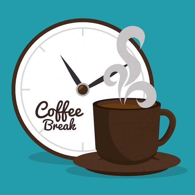Leckeres kaffeepause-design Premium Vektoren
