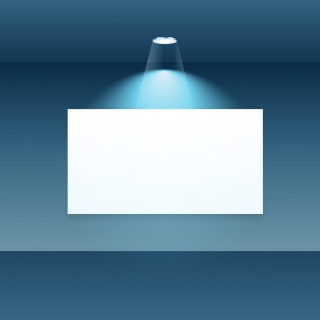 Leer display-rahmen mit spot-licht Kostenlosen Vektoren