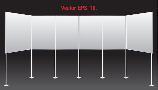 Leere banner-display steht werbung Premium Vektoren