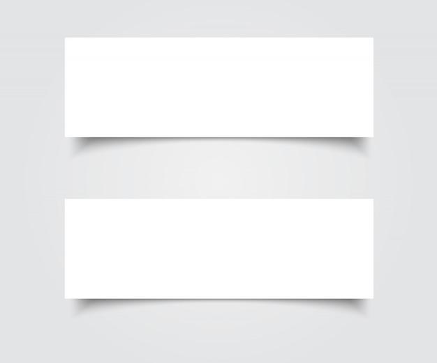 Leere banner vektor Premium Vektoren