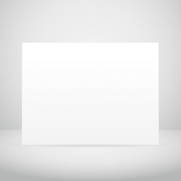 Leere bilderrahmen im weißen raum Kostenlosen Vektoren