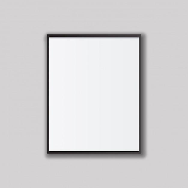 Leere Bilderrahmen Vorlage gesetzt isoliert auf Wand | Download der ...