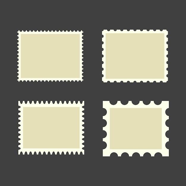 Leere briefmarken Premium Vektoren