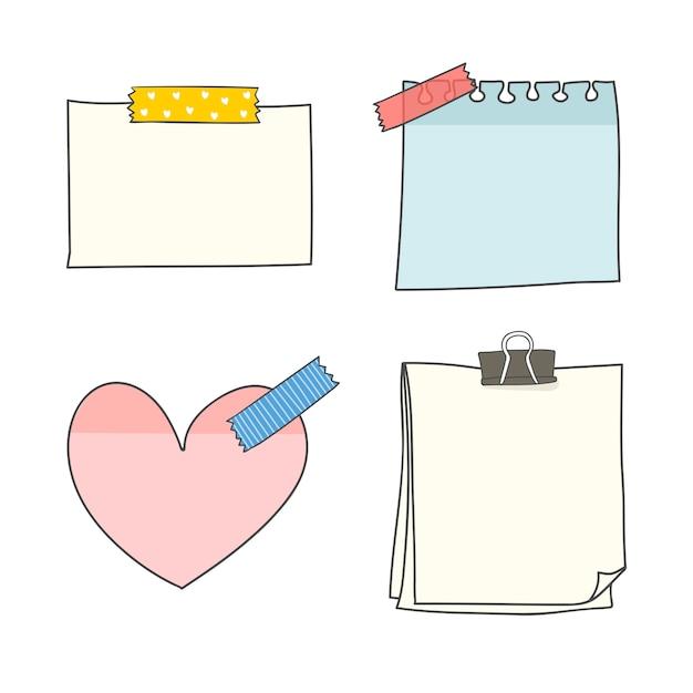 Leere briefpapiersammlung Kostenlosen Vektoren