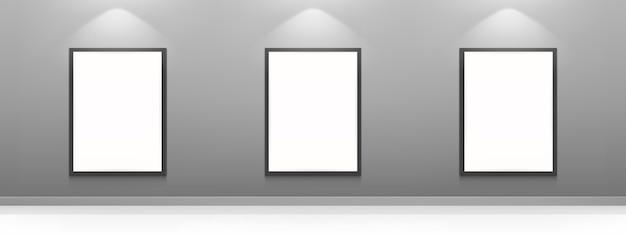 Leere filmplakate, weiße bilderrahmen Kostenlosen Vektoren