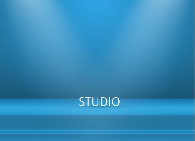 Leere helle farbe studiotabellenhintergrund Premium Vektoren