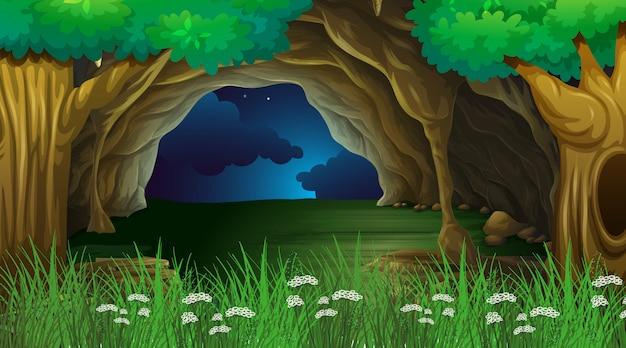 Leere hintergrundnaturlandschaft Kostenlosen Vektoren